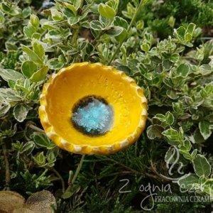 Kwiat ceramiczny żółty