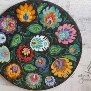 Dekor ceramiczny folk czarny