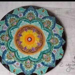 Dekor ceramiczny Mandala 2
