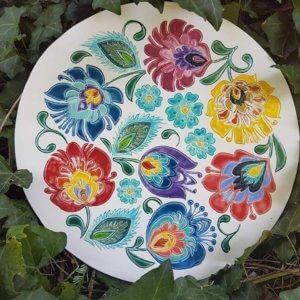 Dekor porcelanowy folk