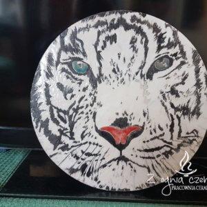 Dekor ceramiczny w technice Raku Tygrys