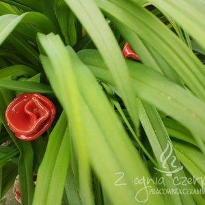 Kwiat ceramiczny czerwony