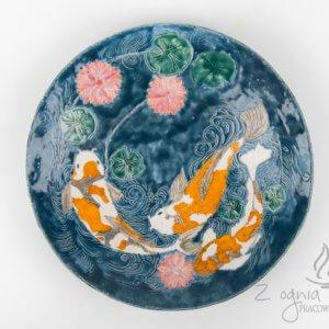 Patera ceramiczna Karpie Koi