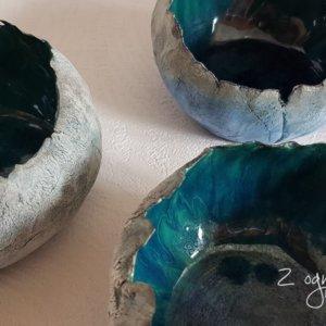 Lampion ceramiczny Niebiesko – Zielony