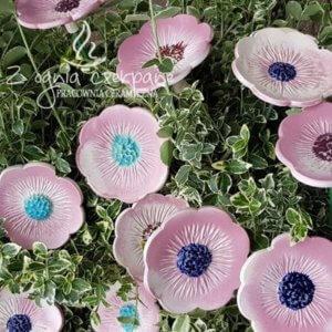 Ceramiczny różowy kwiat rozmiar L