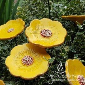 Ceramiczny żółty kwiat rozmiar L