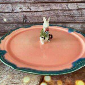 "Wielkanocna patera na ciasto ""Mr Rabbit"""
