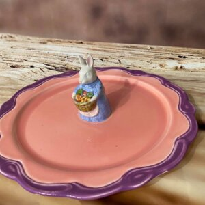 """Wielkanocna patera na ciasto """"Mrs Rabbit"""""""